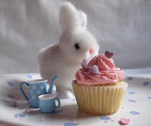 cupcake, bunny, and rabbit image