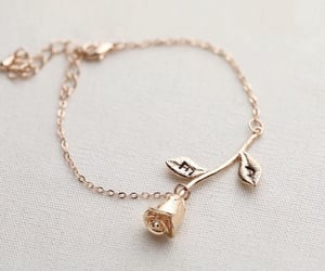 accessories, bracelet, and rose image