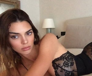 black, glam, and kendall jenner image