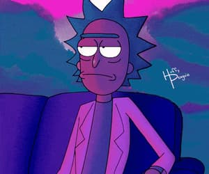 aesthetic, gif, and rick and morty image