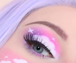 makeup, eye makeup, and pink image