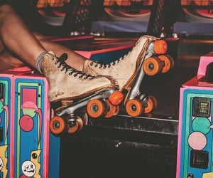 games, roller skates, and vintage image