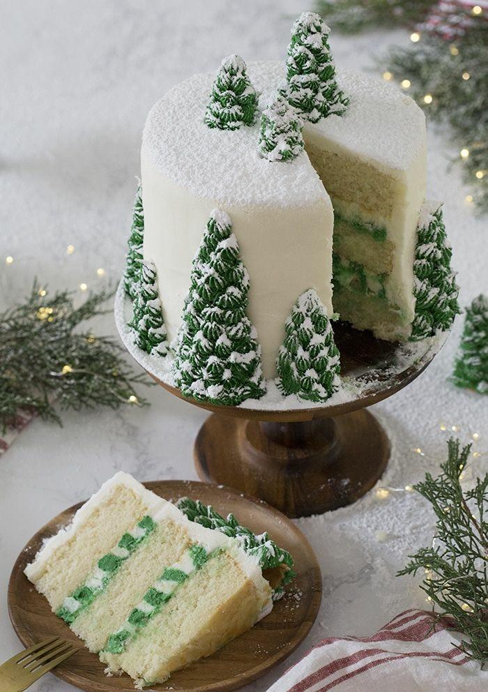 cake, christmas, and food image