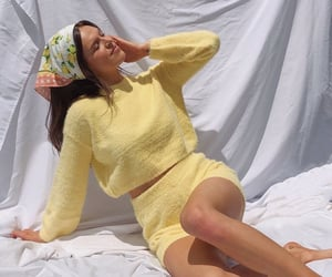 headband, yellow outfit, and fashion style mode image