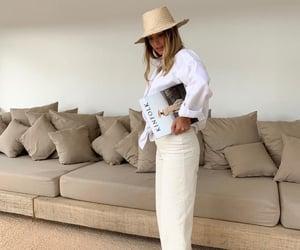 beige, hat, and linen image