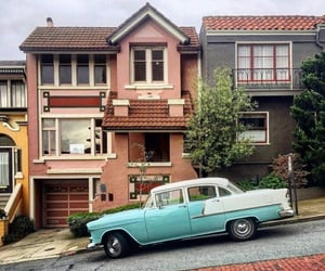 architecture, house, and retro image