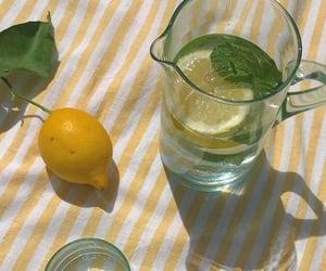 aesthetic, green, and lemon image