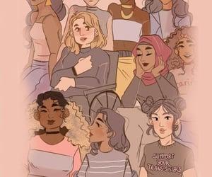 background, feminism, and girl power image