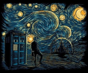 art, doctor who, and starry night image