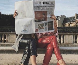 fashion, red, and friends image