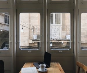 architecture, books, and cafe image