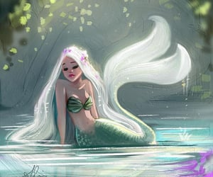 mythical creature, beautiful, and girl image