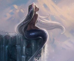 beautiful, mythical creature, and mermaid image