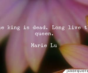 quote, long live the queen, and marie lu image