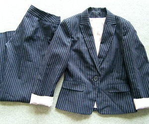 blazer, pinstripe, and business image
