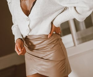 beige, skirts, and urban chic image
