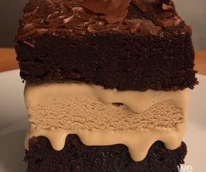 brownie, chocolate, and sugar image