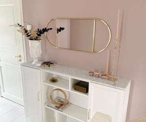 bath, mirror, and pink image