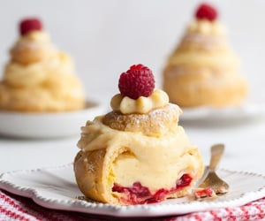 beauty, raspberry, and choux image