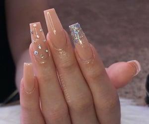 nails, long nails, and nude nails image