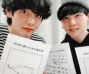 bts, suga, and taehyung image