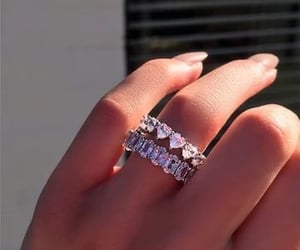 diamonds, ring, and rings image