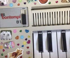 keyboard, piano, and stickers image