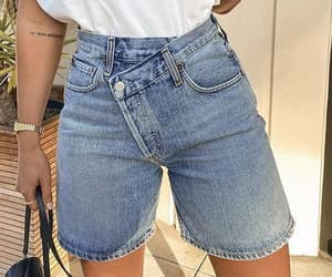 denim shorts and bermuda shorts image