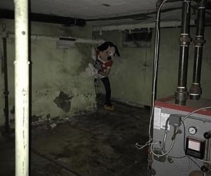 basement, scary, and funny image