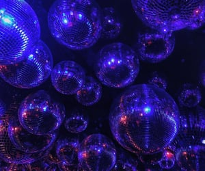blue, disco, and discoball image