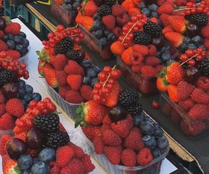 berries, summer, and sweet image