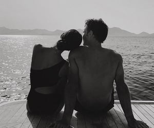 couple, love, and b&w image
