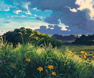 anime, flowers, and ghibli image
