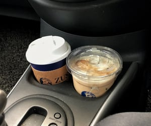 aesthetics, caramel, and coffee image