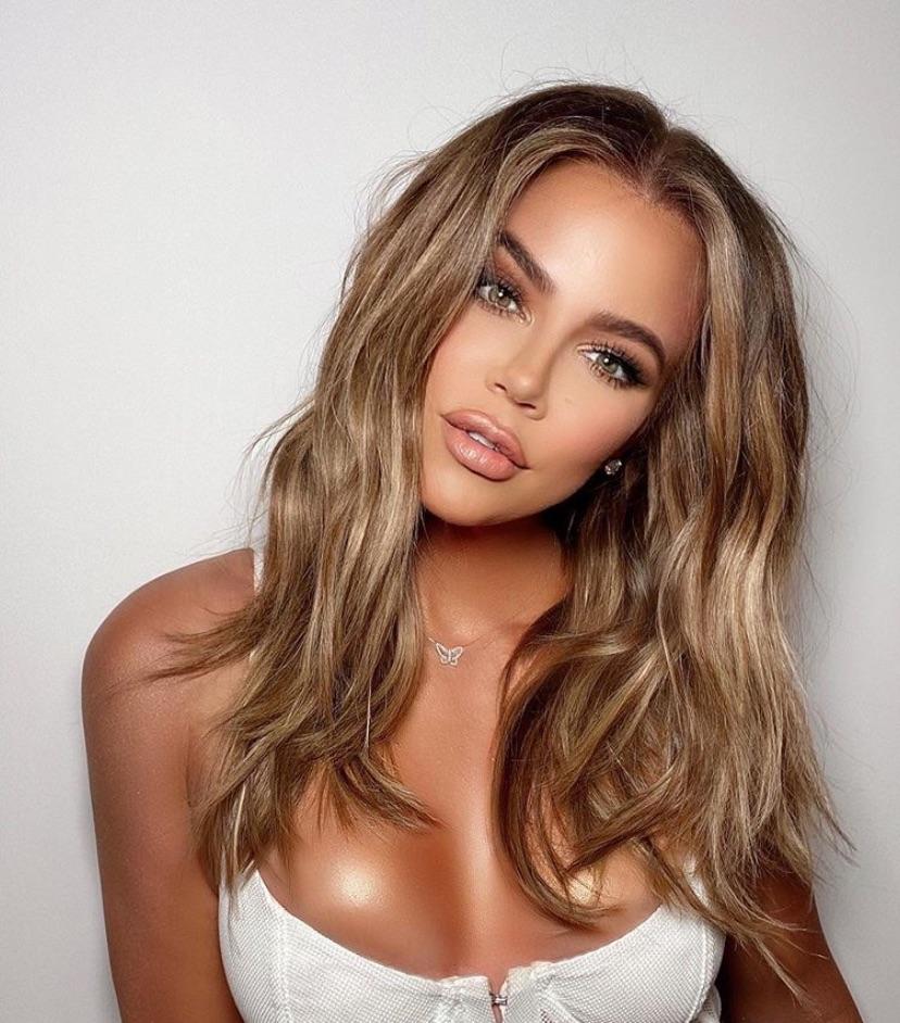 blonde, brunette, and makeup image