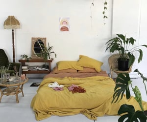 bedroom, interior, and jungle room image