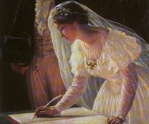 wedding, painting, and love image