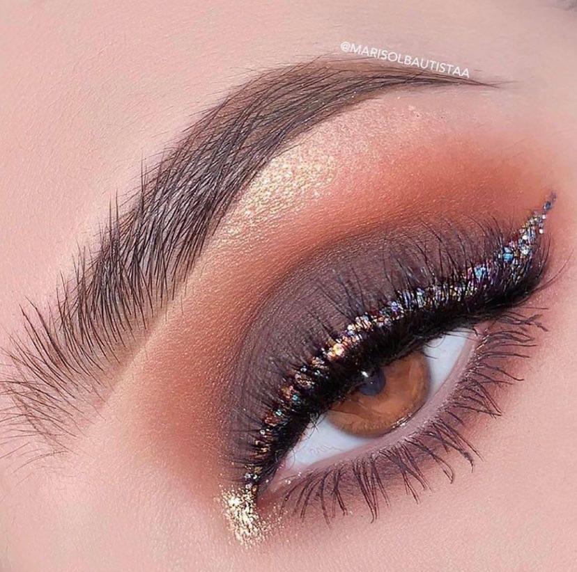 beauty, glitter, and makeup image