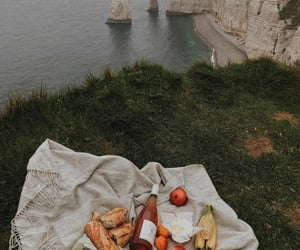 bread, fruit, and picnic image