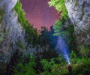adventure, cave, and nature image