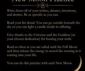 magick, moon, and new moon image