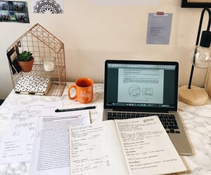 study, study space, and study notes image