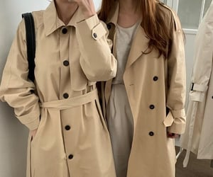 beige, coat, and fashion image