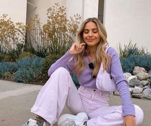 outfit, purple, and fashion image