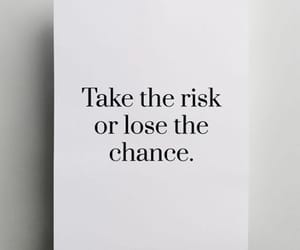 chance, quote, and risk image