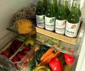 food, veggies, and fridge image