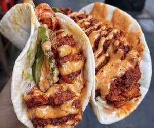 tacos, food, and spicy image