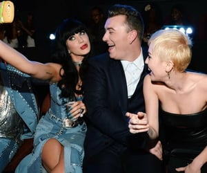 katy perry, miley cyrus, and sam smith image