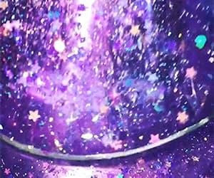 aesthetic, estrellas, and purple image