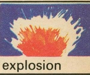 explosion, aesthetic, and orange image